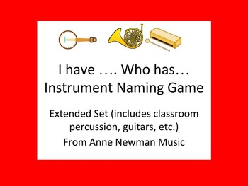 I have Who Has Instrument Naming Game Extended Set