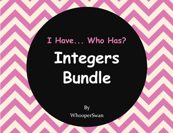 I have, Who Has - Integers Bundle