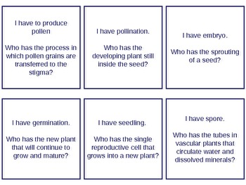 I have, Who Has - Kagan Strategy Plant and Plant Cells flashcards