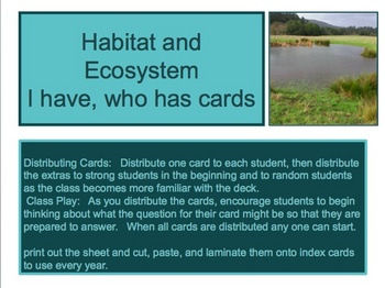 I have, Who Has Kagan Strategy Science flash cards pack bundle