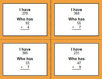 I have, Who Has - Multiplication Bundle