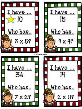 I have..Who Has.. Multiplication Card Game!