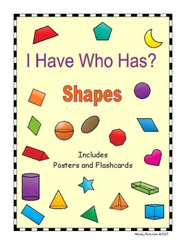 I have Who Has Shapes and Posters
