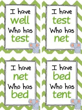 I have, Who Has: Short E