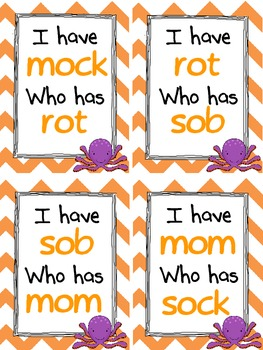 I have, Who Has: Short O