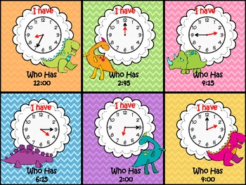I have Who Has Time Dinosaur Theme