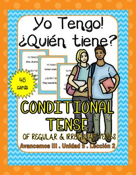 I have... Who Has (Yo tengo... quien tiene?) Conditional Tense