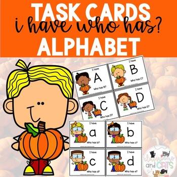 I have Who Has game Alphabet  Pumpkin edition