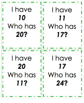 I have, Who has 10-40! Number recognition! Random order!