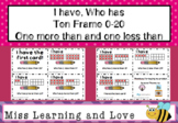 I have Who has 10 Frame 0-20 Maths Numeracy Game: One more