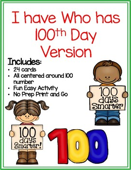 I have Who has 100th Day Version