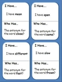 I have... Who has... 3 PACK Antonyms, Synonyms, & Homonyms for Elementary Grades