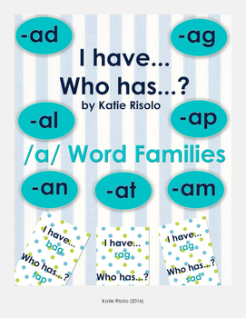 I have, Who has? /A/ Word Families Game