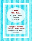 I have... Who has... Add Subtract Mixed Numbers Bundle- 4.NF.B.3c