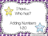 I have, Who has? Adding Numbers 1-20 Game