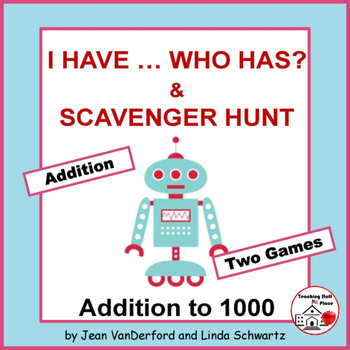 I have, Who has?   Addition to 1000   Math Practice   Fun TASK CARD   Gr 3 CORE