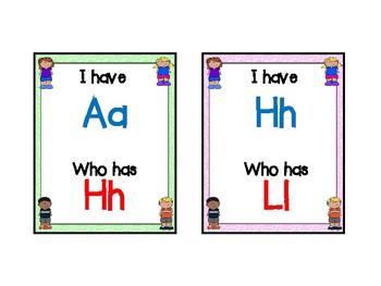 I have, Who has Alphabet Version