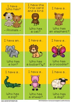 I have.... Who has ...?  --- Animals