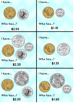 I have... Who has? Australian Coin - Money Game