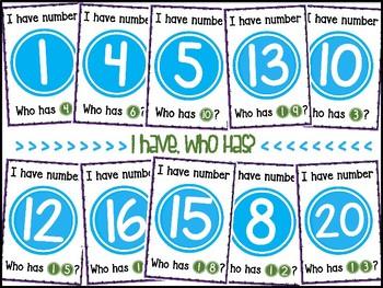 I have, Who has? BUNDLE {{Shapes & Number}}
