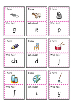 I have...Who has? - Beginning Sounds