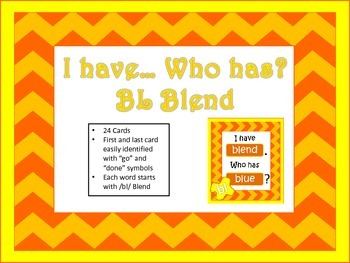 I have... Who has... Bl Blend