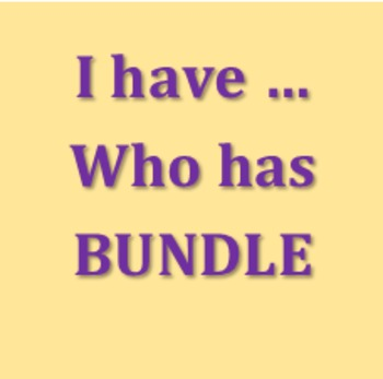 I have Who has English Bundle
