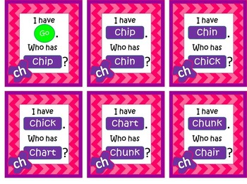 I have... Who has... CH Digraph