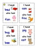 I have Who has CVC Cards {Literacy Activity} Kindergarten