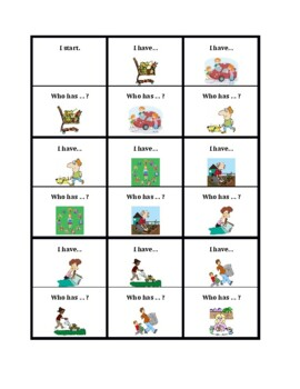 Chores in English I have Who has
