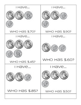 I have, Who has?   Coins and Money Game