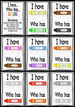 I have Who has ... Colors!