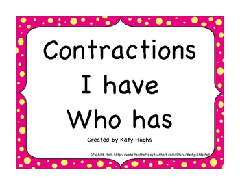 I have, Who has Contraction Practice