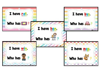 I have... Who has...? CvC Short vowels game