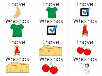 Digraphs (I have...Who has...Cards)