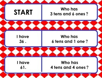 Games • I have . . .  Who has . . . ? • Double Digit Place Value