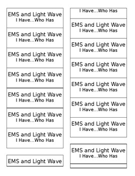 I have, Who has - EMS light