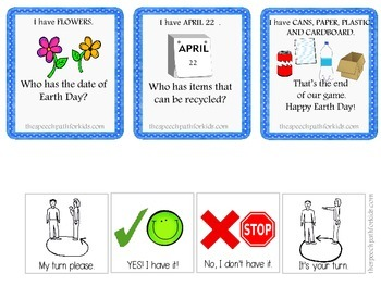 """""""I have, Who has?"""" Earth Day game FREEBIE"""