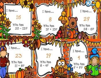 I have…Who has? {Fall Themed 0-30}