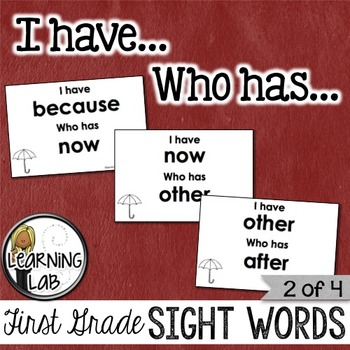 First Grade Sight Words (2 of 4)