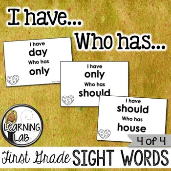 First Grade Sight Words (4 of 4)