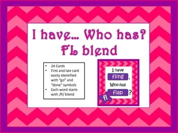 I have.. Who has... Fl Blend