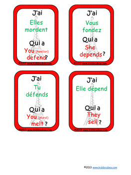 I have... Who has? French present tense