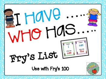 I have, Who has Fry's 100 list