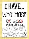 I have, Who has? CVC vs CVCe Practice
