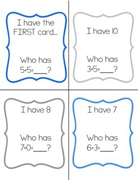 I have… Who has? Game- addition fact fluency