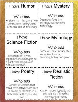 I have, Who has? Genre & Reference Materials
