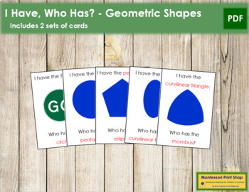 I have, Who has? - Geometric Shapes