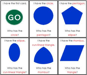 I have, Who has? - Geometric Shapes