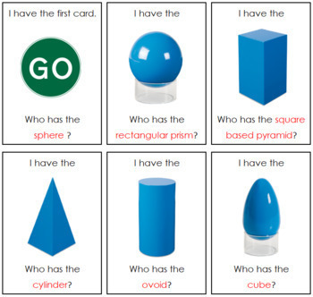 I have, Who has? - Geometric Solids